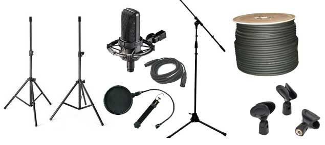 speaker microphone stands and accessories