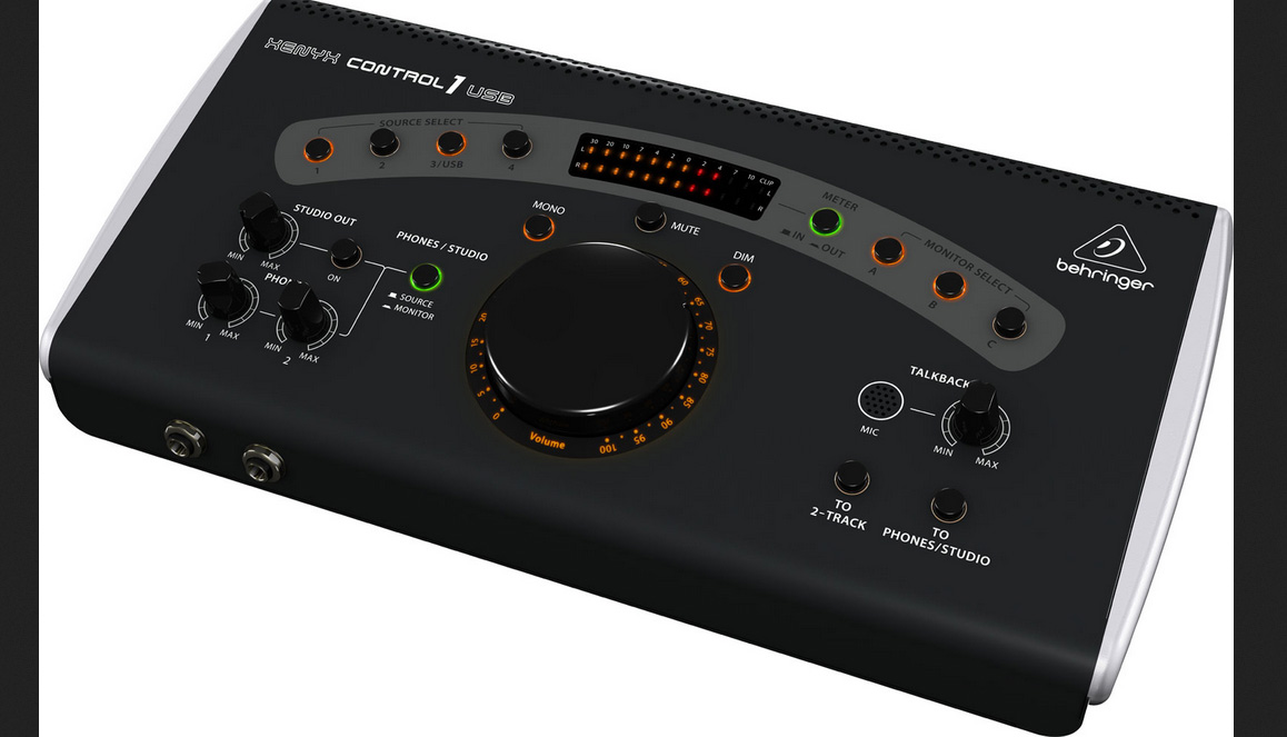* NEW Behringer CONTROL1USB All-in-one Master Volume controller, Source selector, Monitor switcher and Talkback box