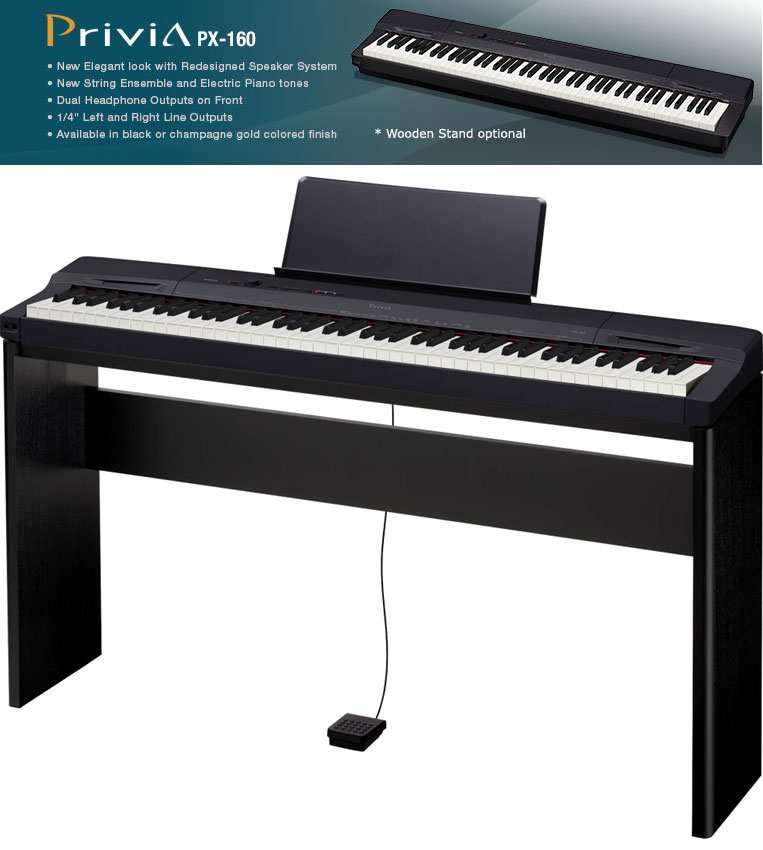 * View JOHANNESBURG AS NEW Privia PX160 digital piano showroom demo with extra CS67 wooden stand Valued R2999