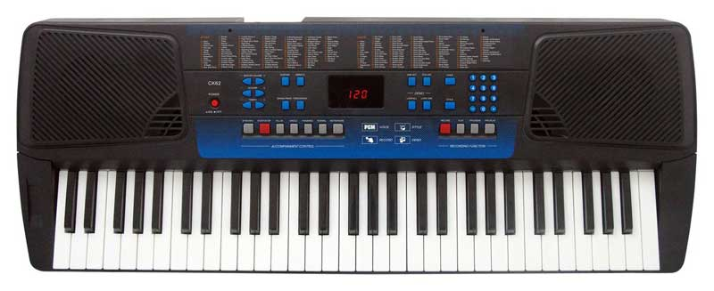 SACK62 Keyboards 61 standard-size keys (C1-C6) with touch response.  include R500 free software+ lesons and sheet music pack