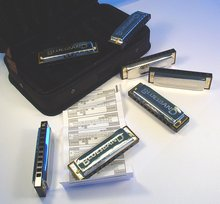 * CLEARANCE Hohner 91105 Set of 7 Blues Harmonica
