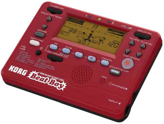 * NEW! Korg Beat Boy Digital recorder, tuner and metronome GUITAR PATTERNS AND 100 DRUM PATTERNS VIDEO