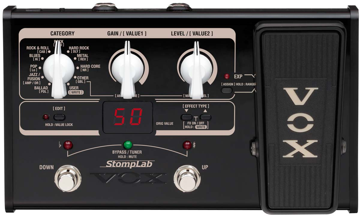 Vox stomplab 2G guitar effects processor with volume pedal