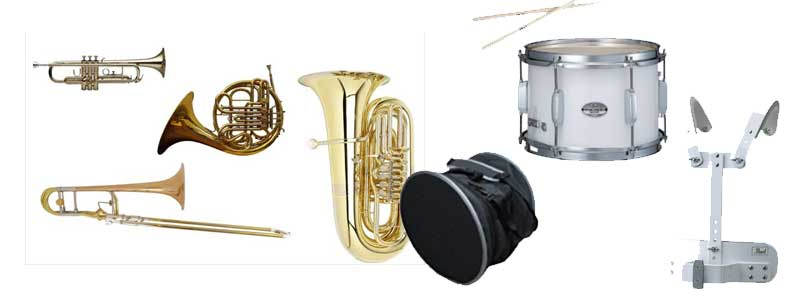 Brass Instruments and Marching Drums