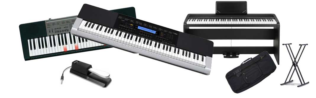 Music keyboards and Digital Pianos and accessories