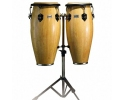 "Toca Players Series Wooden Conga Set 10"" and 11"" With Stand"