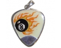 Addian 8 Ball Flame Silver Plectrum