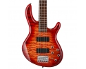 CORT ACTION DLX V PLUS 5-String Active Bass Guitar – Cherry Sunburst