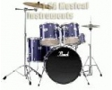 Pearl Forum Drumset with hardware hihat + cymbals + cymbal stands