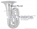 * View CAPETOWN  Jinyin Bb  compensating side 4 valves nickel silver plate tuba in Bb