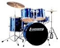 * Ludwig LC175 Accent Blue DRIVE for rock/ pop + all hardware, pedal, throne  and cymbals - complete (played by The Beatles) UP*