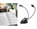 Proel LED music stand light with a double flexible gooseneck