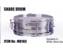 SAMD103 marching snare drum with strap and beaters (white silver or blue)