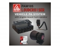 SAPAM105 Loudcruiser Engine Compartment Mounted Vehicle PA System Kit