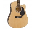 Fender squier  SA-105CE DREADNOUGHT ACOUSTIC ELECTRIC GUITAR NATURAL FINISH UP*