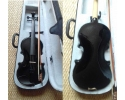 Courante violin outfit- BLACK SPARKLE LAQUER Full Size 44 :AGES 12 -adult including setup + 4 fine tuners *View CAPETOWN