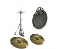WUHAN Budget cymbal pack - hihat crash ride bag