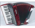 HOHNER PIANO ACCORDIAN BRAVO III 72RD 34 TREBLE KEYS > 72 BASSES 3 VOICES > RED