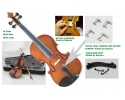 AUGUST ONLY Courante violin outfit- antique stain ALL SIZES AGES 4 -adult including setup + shoulder rest + 4 fine tuners *View