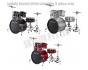 * Ludwig LC170 Accent DRIVE for rock/ pop + all hardware, pedal, throne  and cymbals - complete (played by The Beatles)