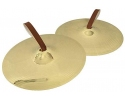 Pair of 14 inch marching cymbals with straps