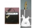 1/2 size Mini Electric Stratocaster WHITE Guitar w  15w fender amplifier for children 5 to 12. UP*