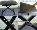 keyboard bench  height adjustable