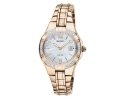 SEIKO Women's Solar Mother-Of-Pearl Gold Diamond Watch