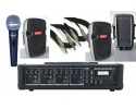 * View CAPETOWN Portable PA with RECORDING .4 ch powered mixer S+ 2 * 8inch speakers  +MIC and accessories ( 1 left )