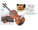 Courante violin outfit- antique stain  including setup + 4 fine tuners 1/2 size (ages (6-10) *View CAPETOWN92)