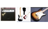 sonata electric guitar - + fender 15 watt amplifier + free  guitar bag UP*