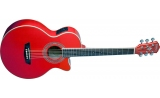 Washburn EA10 Electric Acoustic Guitar VIDEO! RED