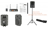 * * BESTSELLER PA System including  DTECH SAUHF21BL+HS  single channel  wireless  lapel/headset diver AVAILABLE