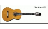 Aria Ak20 Classical Guitar - solid top - ebonised walnut fingerboard