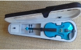 Courante violin outfit- BLUE SPARKLE LAQUER Full Size 44 :AGES 12 -adult including setup + 4 fine tuners UP*