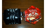 Anglo Concertina 20 key Black or red