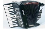 HOHNER PIANO ACCORDIAN BRAVO II48RD 26 TREBLE KEYS > 48 BASSES 2 VOICES > RED