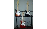 * 1/2 size Mini Electric Stratocaster RED Guitar w  built in amplifier for children 5 to 12. UP*