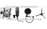 * SA Musical Instruments Recording Pak -Condensor Mic /Shockmount /Mic desktop stand Podcasting Package