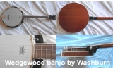 * CLEAROUT View CAPETOWN WEDGEWOOD by WASHBURN 4 string banjo and bag valued R299 and with instruction book valued R275 and thum