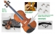 Courante violin outfit- antique stain ALL SIZES AGES 4 -adult including setup + shoulder rest + 4 fine tuners *View
