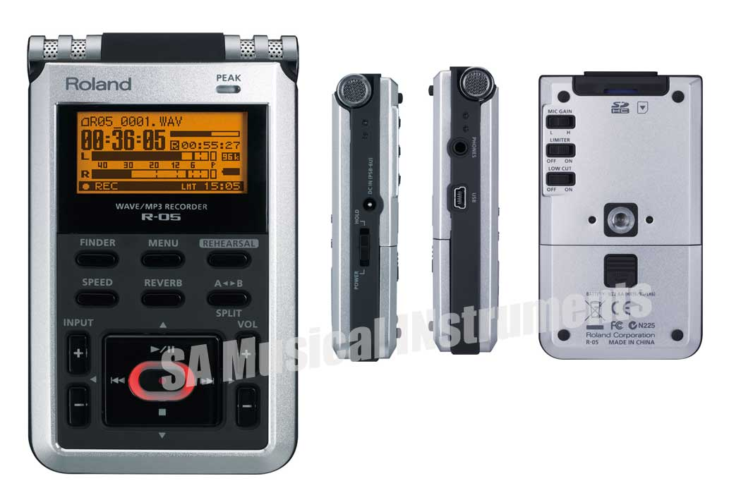 Roland R-05: WAVE/MP3 Digital audio Recorder