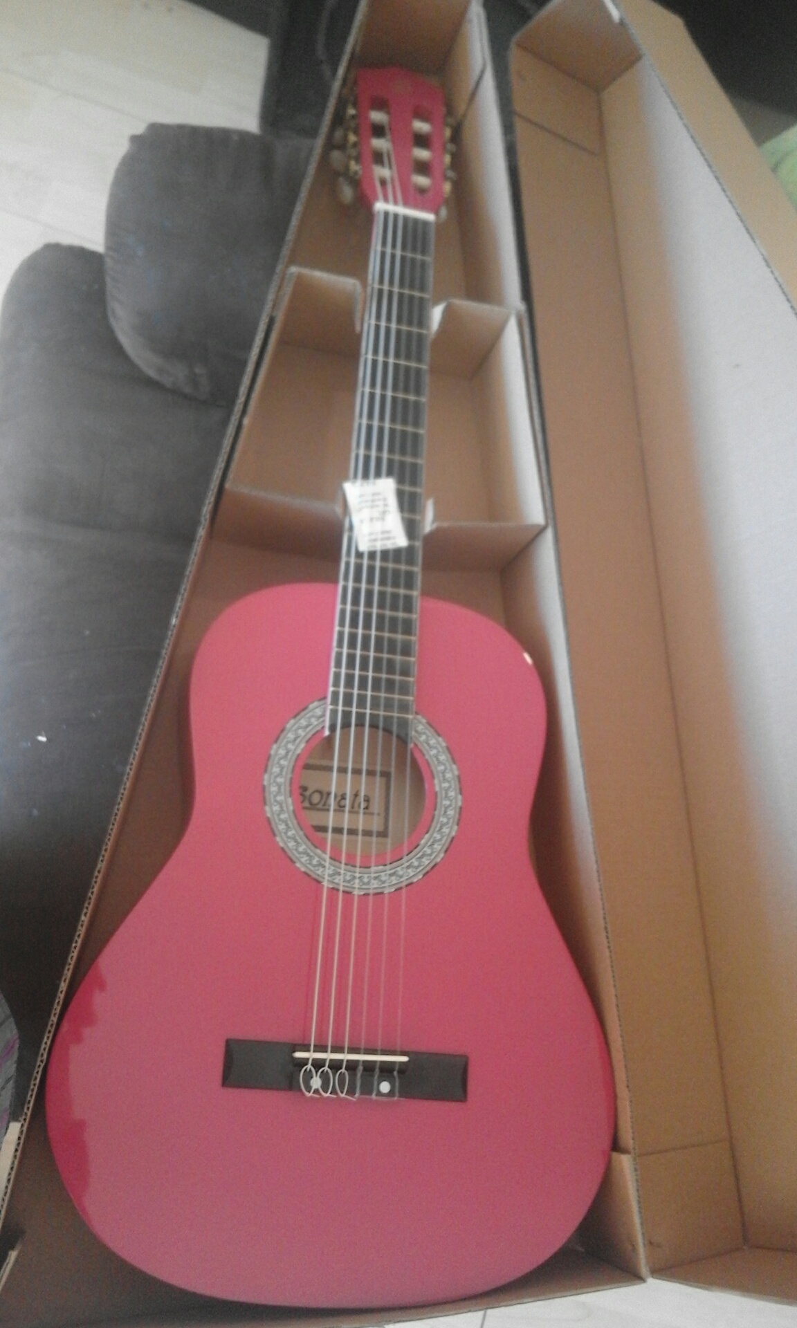 Pink 7/8 size Classical Guitar Ages 7-11