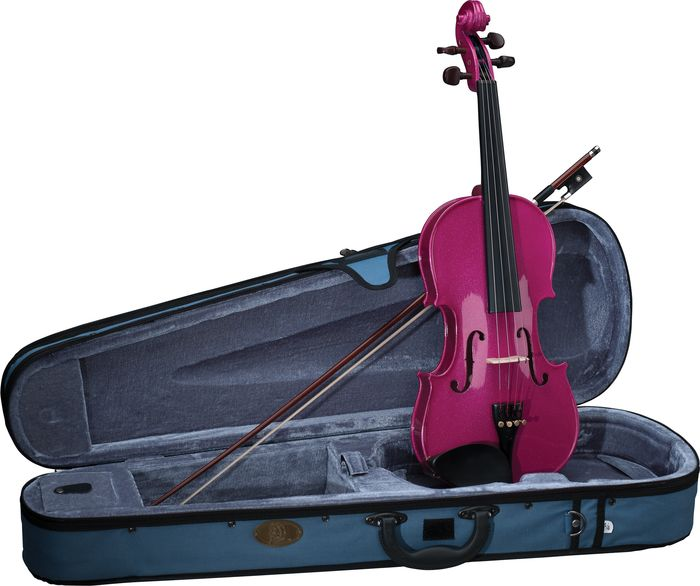 Stentor Harlequin  violin outfit ( 3/4 4/4 sizes)blue, black, purple, and pink