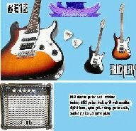 * Washburn Bucklay Electric Guitar + 15W AMP + BAG + El tuner + strap + lead LIMITED CRAZY STOCK CLEARANCE