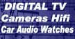 digital electronics watches cameras car audio TV