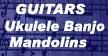 Guitars Ukulele banjo mandolin