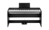 Korg B1 Deluxe digital piano including 3 pedal unit and stand.