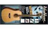 Washburn WD10CE Electric  Acoustic Worlds bestselling guitar.  Natural PACK w  guitar bag straps dvd plectrums