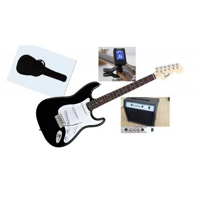 Fender squier bullet guitar pack (with tuner amplifier and bag)
